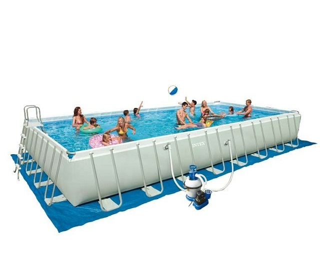 Фото каркасный бассейн Intex  Ultra Frame Pool Set  арт: 28372